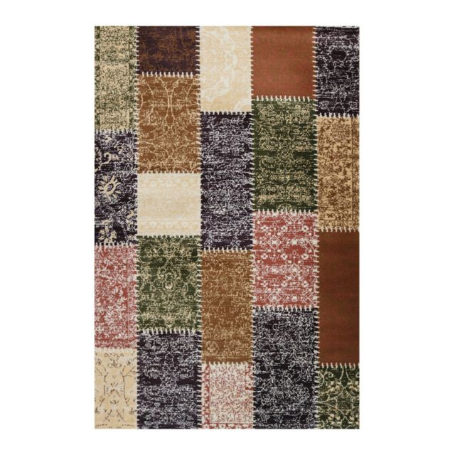allotapis tapis style patchwork multicolore poils court codosera pas cher achat vente. Black Bedroom Furniture Sets. Home Design Ideas