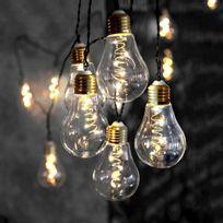 Xmas Living Glass - Glow - Guirlande d'extérieur Ampoule 10 filaments Led L8,6m - Luminaire d'extérieur designé par