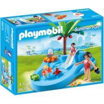 PLAYMOBIL - Bassin pour bébés et mini-toboggan - 6673