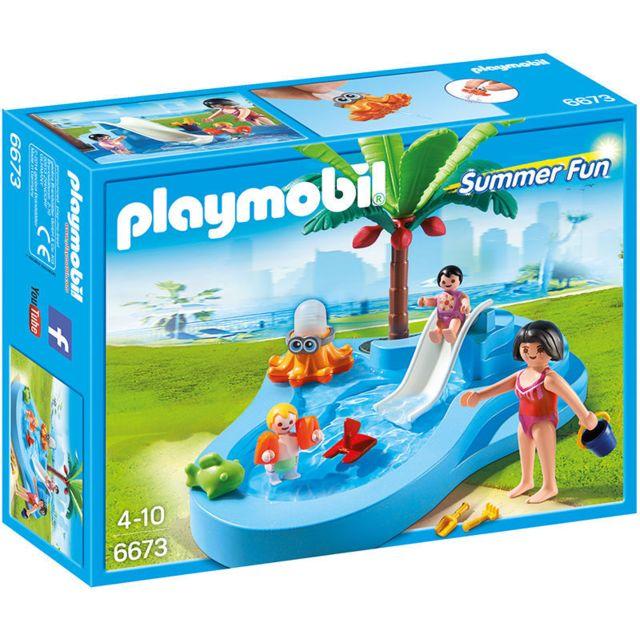 Playmobil Piscine Avec Toboggan  Achat Playmobil Piscine Avec