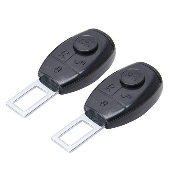 wewoo 2 pcs rs 02 universel de noir voiture boucle de ceinture extension de de s curit clip. Black Bedroom Furniture Sets. Home Design Ideas