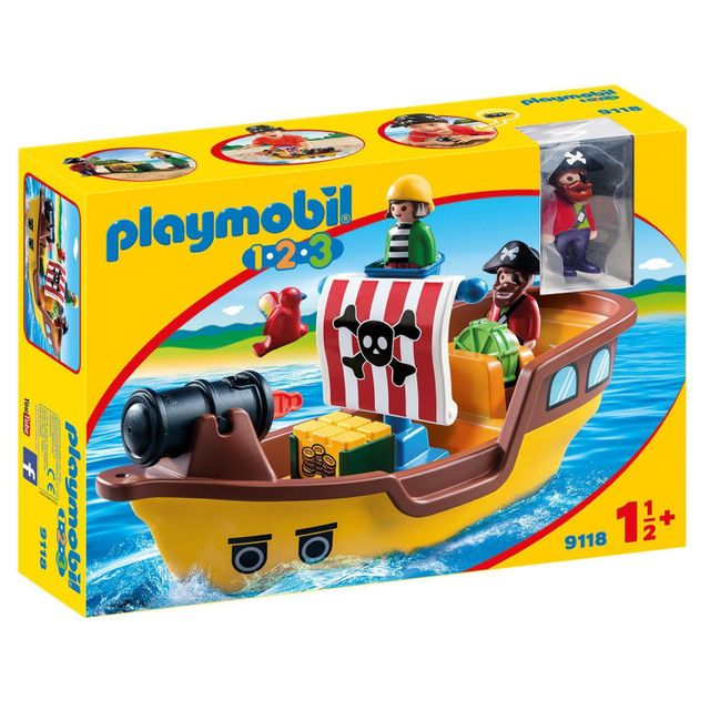 playmobil 9118 1 2 3 b teau de pirates pas cher. Black Bedroom Furniture Sets. Home Design Ideas