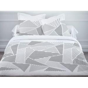 today parure housse de couette taie coton fermeture zip g om trique gris grafism zip. Black Bedroom Furniture Sets. Home Design Ideas