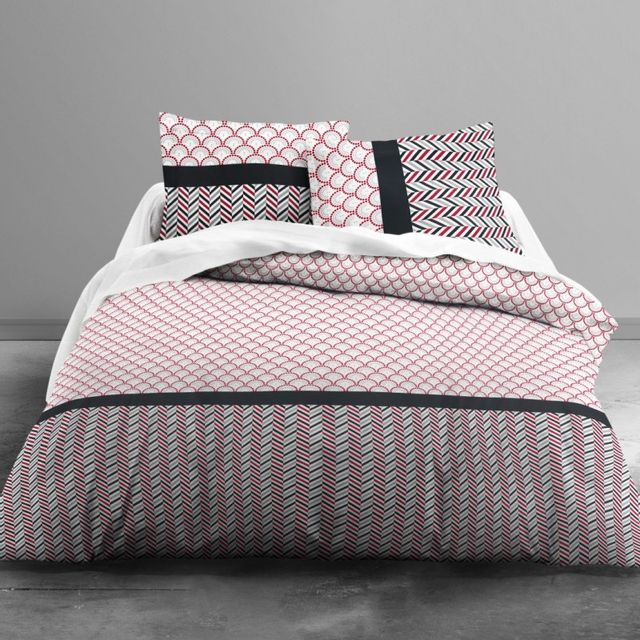 100pourcentcoton housse de couette 240x260cm 2 taies 63x63 cm 1 drap housse 160x200 cm. Black Bedroom Furniture Sets. Home Design Ideas