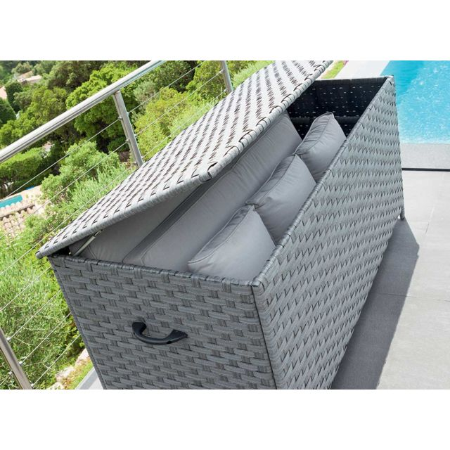 hesp ride coffre de rangement bayana gris pas cher achat vente coffre de jardin. Black Bedroom Furniture Sets. Home Design Ideas