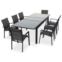 Table salon jardin alu extensible - Achat Table salon jardin alu ...