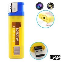 Yonis - Briquet camera espion mini appareil photo caché Usb Micro Sd