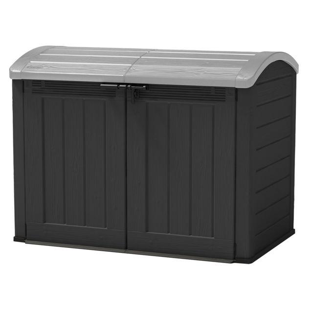 keter coffre de rangement multifonctions 1200 l toit. Black Bedroom Furniture Sets. Home Design Ideas