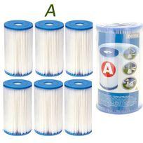 Touslescadeaux - 6 Cartouches de Filtration Intex pour filtre piscine - Intex Type A