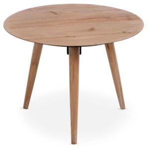 MENZZO - Table basse scandinave ronde Jalea Chêne Marron - 60cm x 44cm x 60cm