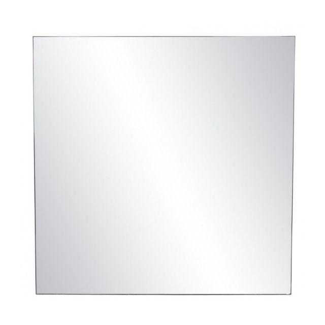 Wadiga Grand Miroir Carré Métal Noir - 118x118cm