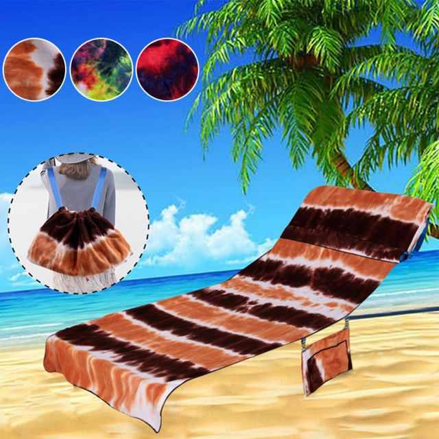 Generic Chaise plage serviette plage chaise couverture chaise longue serviette couverture pour piscine chaise longue hôtel vacan