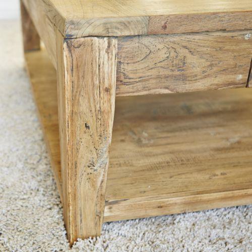 bois dessus bois dessous table basse carr e teck recycle 100cm bois pas cher achat vente. Black Bedroom Furniture Sets. Home Design Ideas