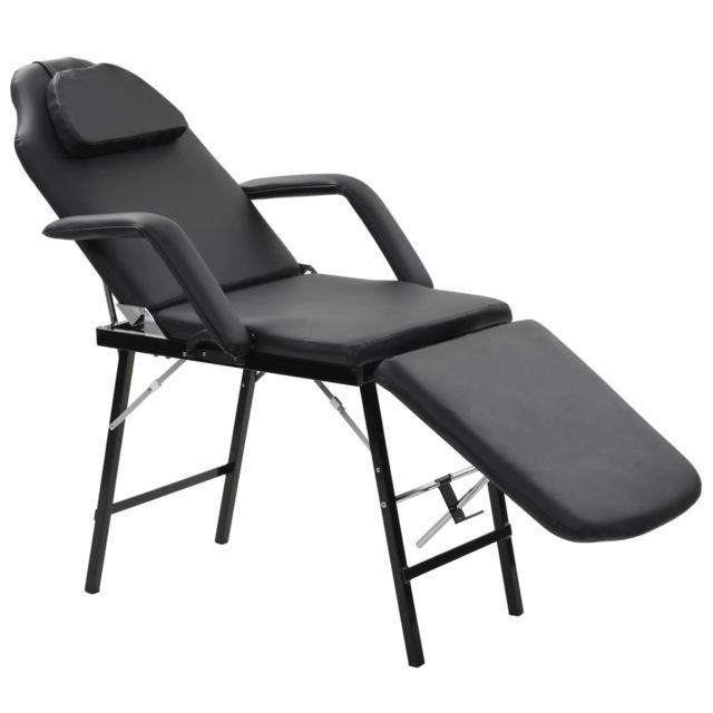 Moderne Massage et relaxation collection Singapour Fauteuil de massage pour traitement facial Simili-cuir Noir