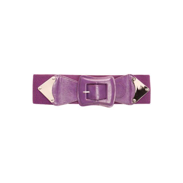Grossiste-en-ligne - Ceinture Elastique Violet à Boucle Rectangle. Ceinture  Femme. 179ab0ed02d