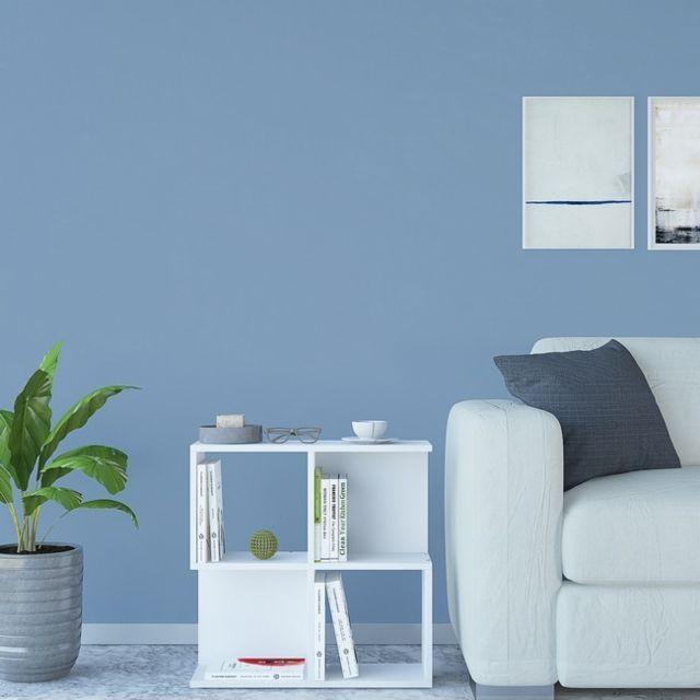 Homemania Table Basse Martha Porte-Revues - avec Compartiments - pour Canapé, Salon - Blanc en Bois, 60 x 20 x 60 cm