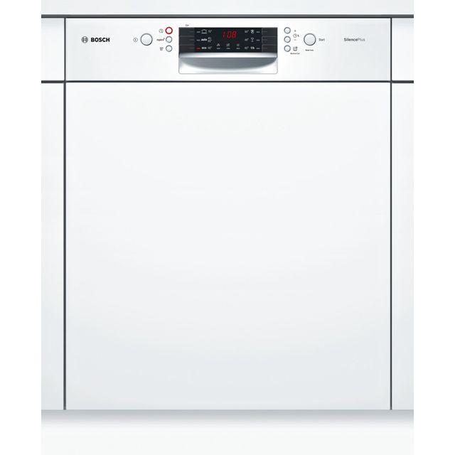 Bosch lave-vaisselle 60cm 12c 46db a+ intégrable avec bandeau blanc - smi46aw01e