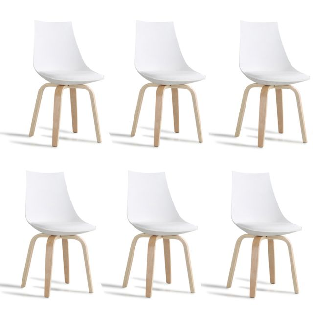 Lot De 6 Chaises Scandinaves Blanches Nicosie