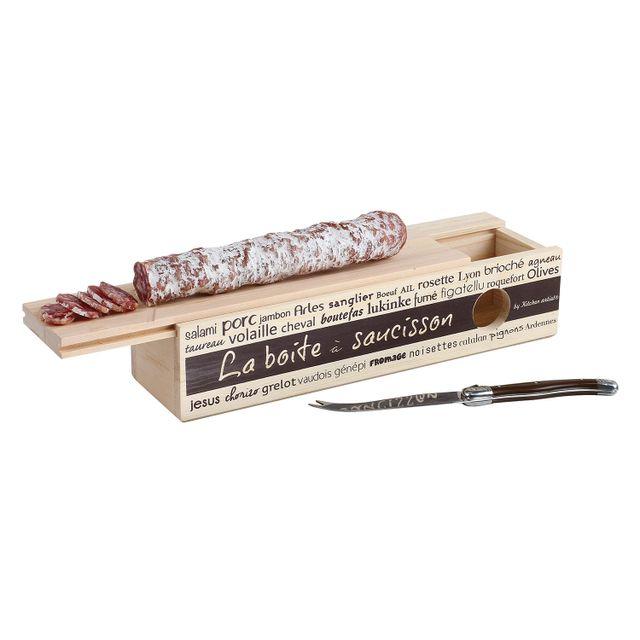 Kitchen Artist Boîte à saucisson + couteau avec lame 11 cm