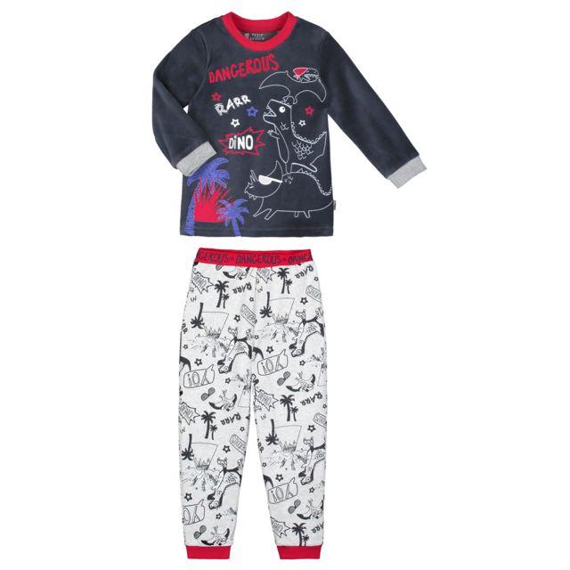 4077366ce6adc Petit Beguin - Pyjama garçon manches longues gris Dino boy - Couleur -  Gris