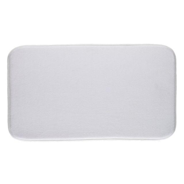 paris prix tapis salle de bain m moire de forme 80x50cm blanc pas cher achat vente tapis. Black Bedroom Furniture Sets. Home Design Ideas