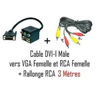 Cabling - Pack Cable dvi i m vers vga/f+3 rca 20cm + cable 3 x Rca 3M