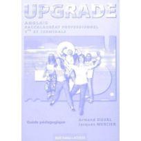Bertrand Lacoste - upgrade ; anglais ; bac pro ; guide pédagogique