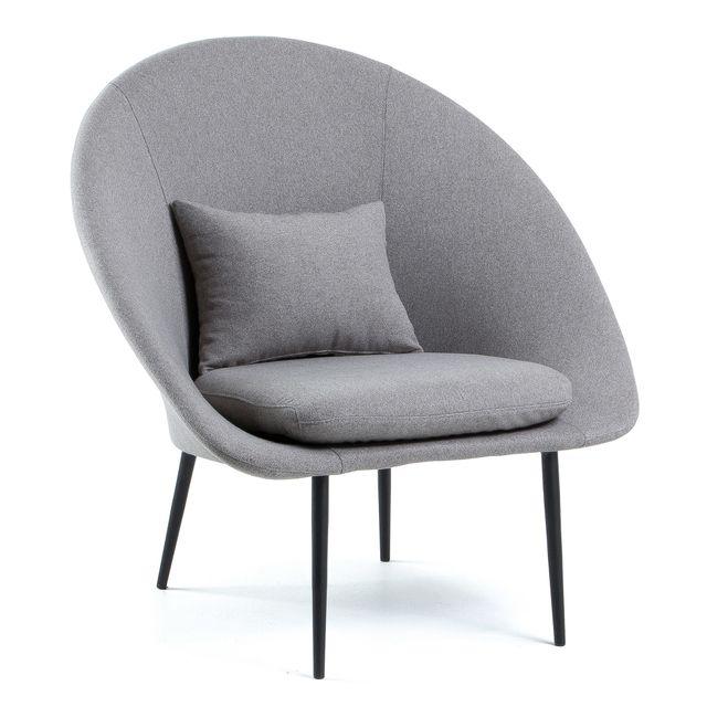 Kavehome Fauteuil Norsdam, gris clair