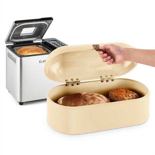KLARSTEIN Krümelmonster Set machine à pain automatique 550w + boîte à pain