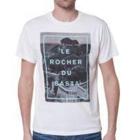 Loreak Mendian - T-shirt Col Rond Ecru Homme