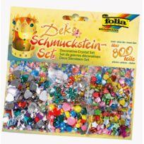 Folia - pierres decoratives en plastique a coller - sachet de 800