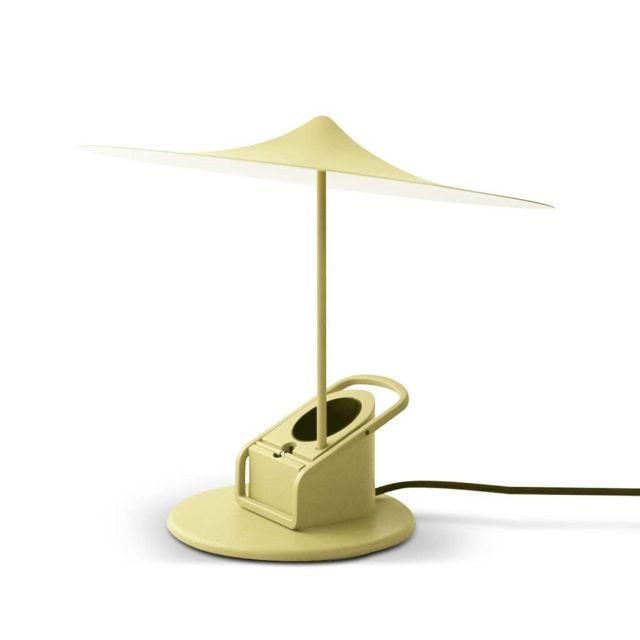 Wastberg - Sempe - Lampe à poser ou à pincer Led Paille Ø19cm - Lampe à poser Wästberg designé par Inga Sempé Jaune