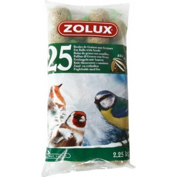zolux boules de graisse 25 x 90g nourriture oiseaux sauvages pas cher achat vente. Black Bedroom Furniture Sets. Home Design Ideas