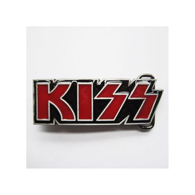Universel - Boucle de ceinture kiss rouge groupe hard rock année 70 ... 0b8c9d453c2