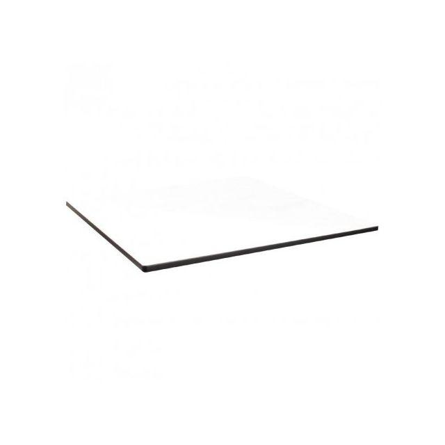 Materiel Chr Pro Plateau de table carré compact d'extérieur blanc 600 mm Compact Exterior - Blanc 600 mm