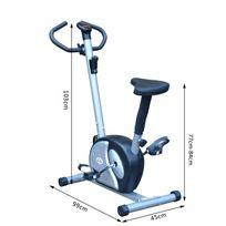 HOMCOM - Vélo d'appartement exercice Fitness hauteur selle réglable écran LCD multifonctions argent et noir neuf 05