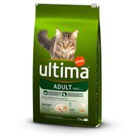 Ultima - Croquettes Adult 1-10 au Poulet pour Chat - 7,5Kg