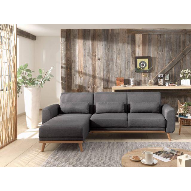 bestmobilier vera canap d 39 angle r versible convertible au style scandinave en tissu. Black Bedroom Furniture Sets. Home Design Ideas