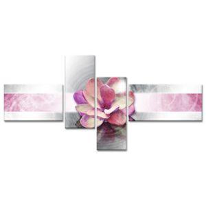 Declina tableau toile imprim e fleur rose deco zen - Tableau rectangulaire zen ...
