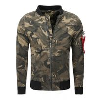 Beststyle - Blouson bombers militaire homme kaki hiver tendance