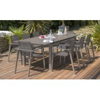 Salon jardin Zahara table rallonge et 8 fauteuils