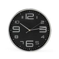 Alinéa - Silent Horloge murale coloris noir et argent D35cm