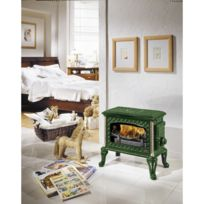 Godin - Poêle bois la chauffette 390101 émail vert majolique