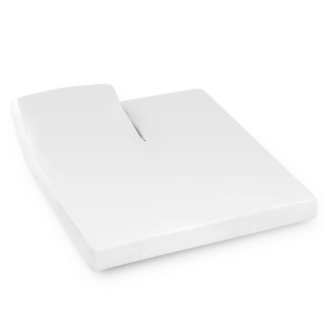 linnea drap housse relaxation uni 2x100x210 cm 100 coton alto blanc tr t te relevable. Black Bedroom Furniture Sets. Home Design Ideas