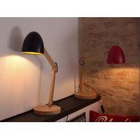 Beliani - Lampe - lampe à poser - lampe de bureau - rouge - Veleka