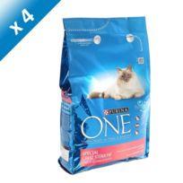 One - Croquettes au saumon et blé pour chat stérilisé - 3kg x4 Pour chat