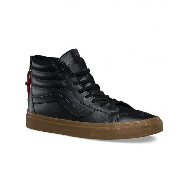 Vans Chaussures U Sk8 Hi Reissue Hiking Black Gum pas