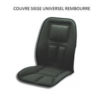 Peraline - Couvre siege pour voiture ergonomique avec renforts couleur noir