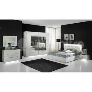 mobilier nitro chambre design lumineuse blanche galeazzo pas cher achat vente chambre. Black Bedroom Furniture Sets. Home Design Ideas