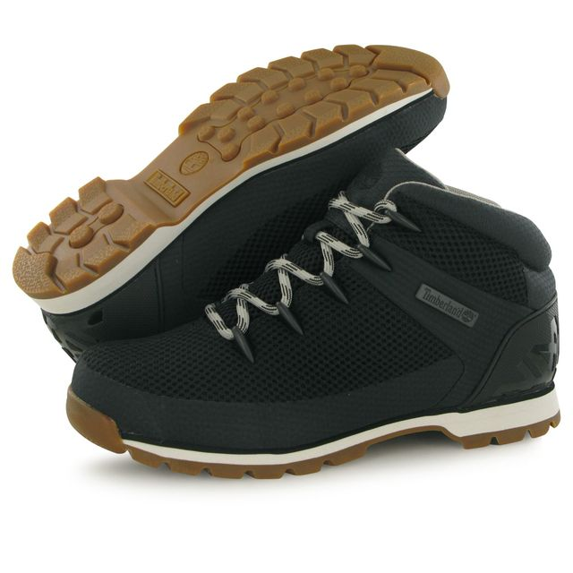 Timberland - Euro Sprint Fabric noir, boots homme 40